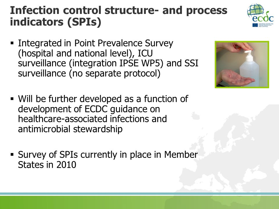 Infection control structure- and process indicators (SPIs)