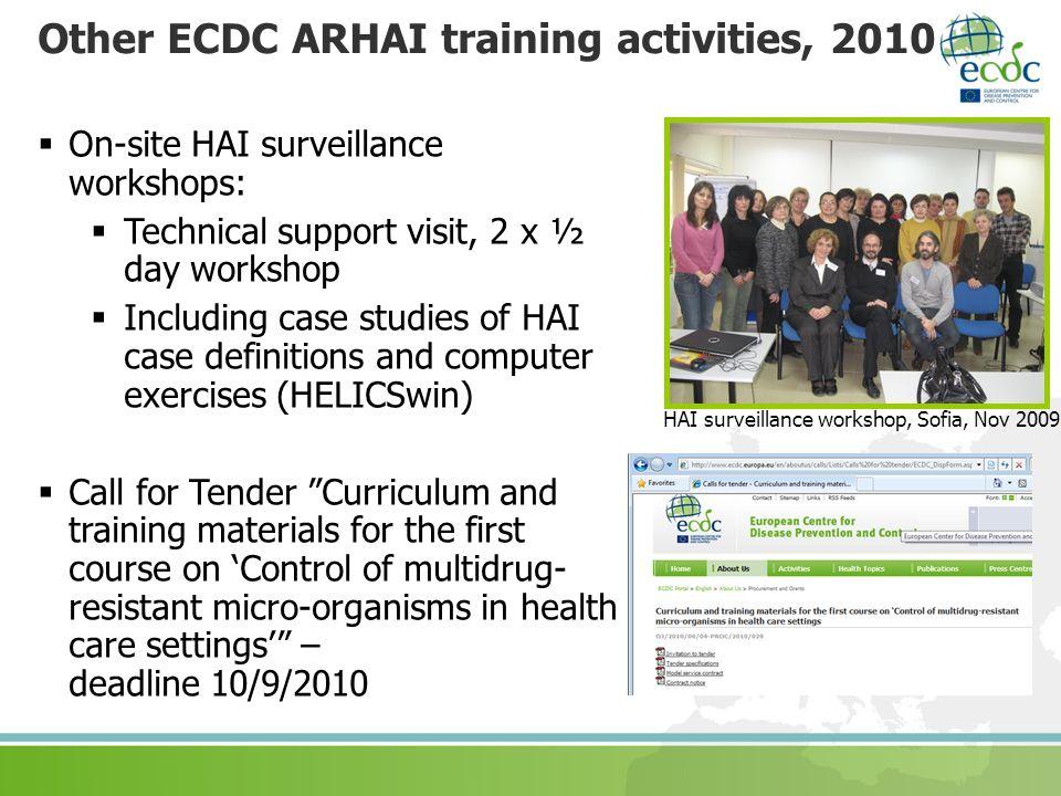 Other ECDC ARHAI training activities, 2010