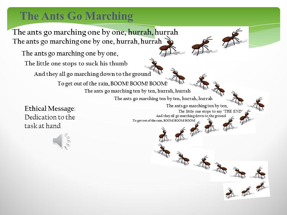 the ants go marching lyrics pdf