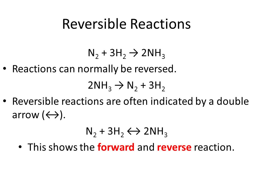 how to tell if the reaction is forward or reverse