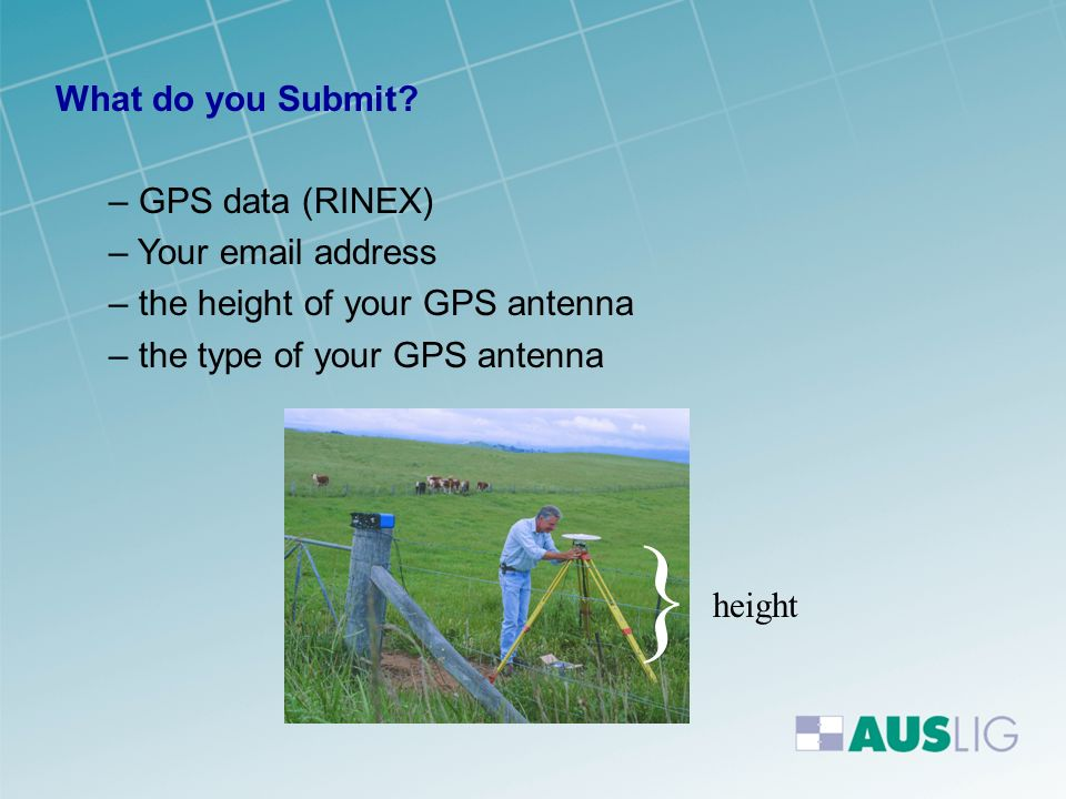 } What do you Submit GPS data (RINEX) Your email address
