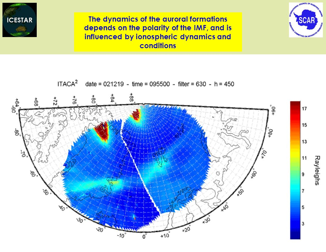 The dynamics of the auroral formations depends on the polarity of the IMF, and is influenced by ionospheric dynamics and conditions