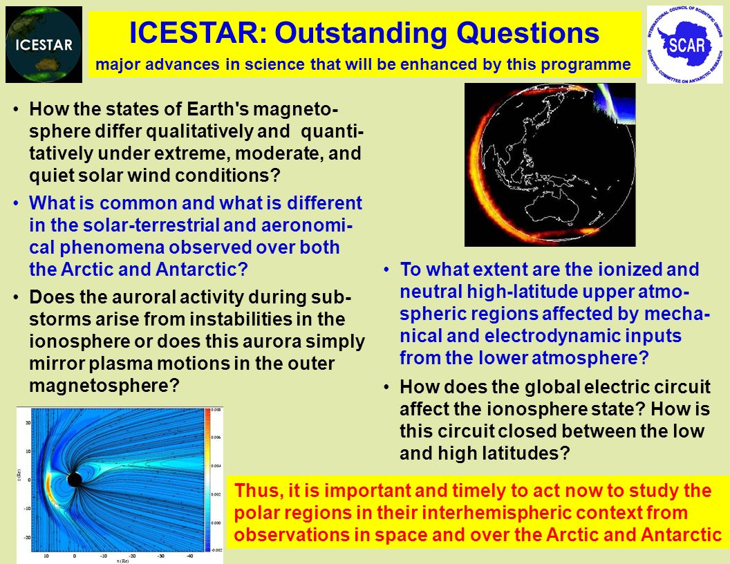 ICESTAR: Outstanding Questions