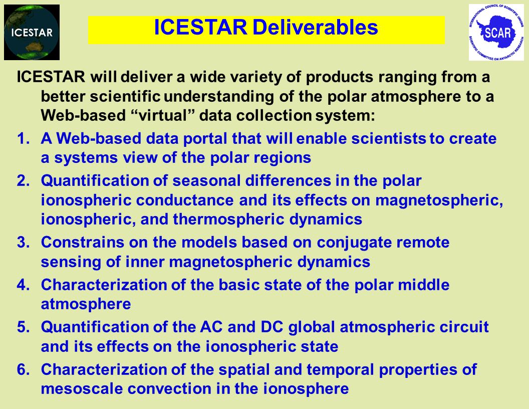 ICESTAR Deliverables