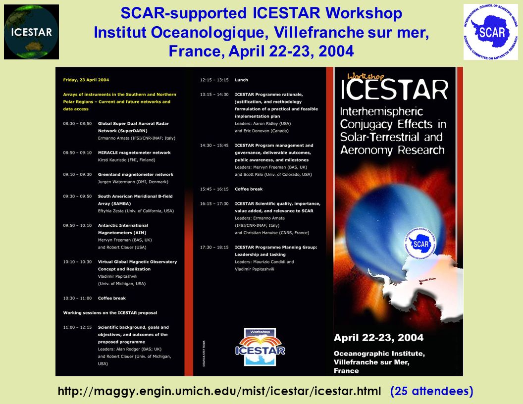 SCAR-supported ICESTAR Workshop