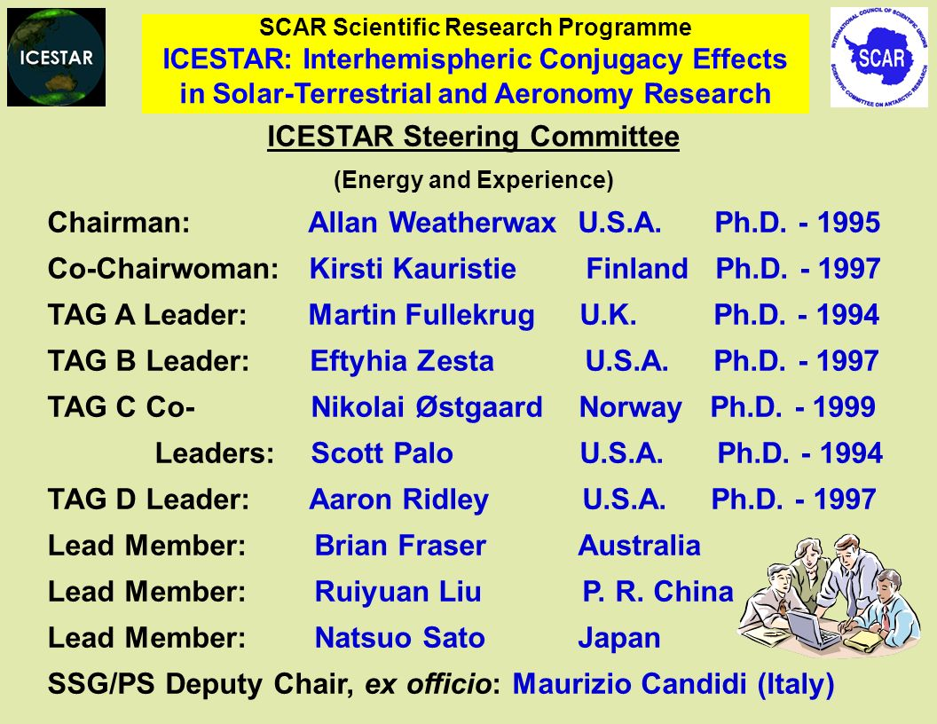 ICESTAR Steering Committee (Energy and Experience)