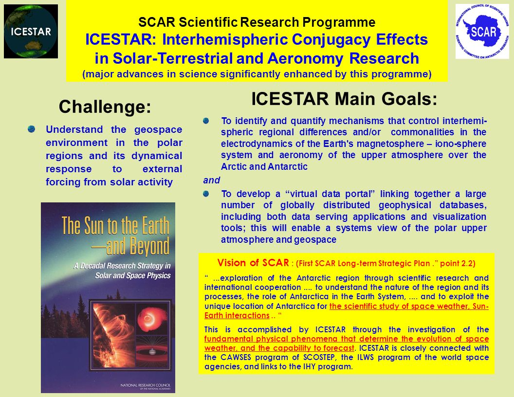 Vision of SCAR : (First SCAR Long-term Strategic Plan . point 2.2)