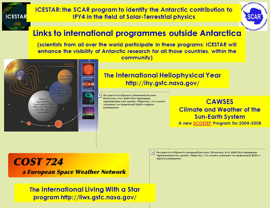 Links to international programmes outside Antarctica