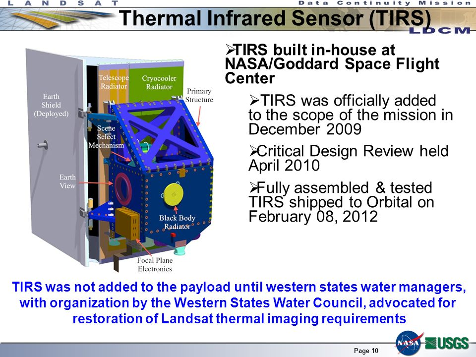 Thermal Infrared Sensor (TIRS)