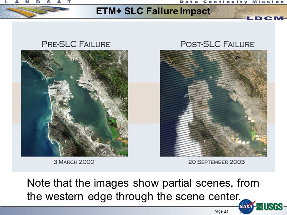 ETM+ SLC Failure Impact