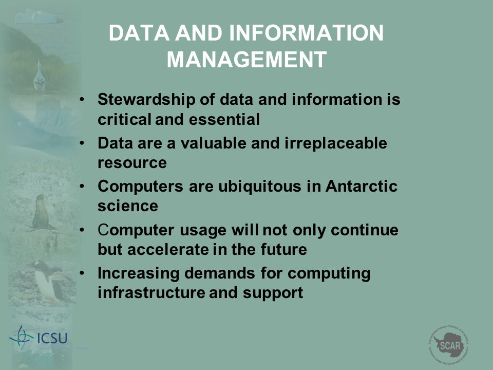 DATA AND INFORMATION MANAGEMENT