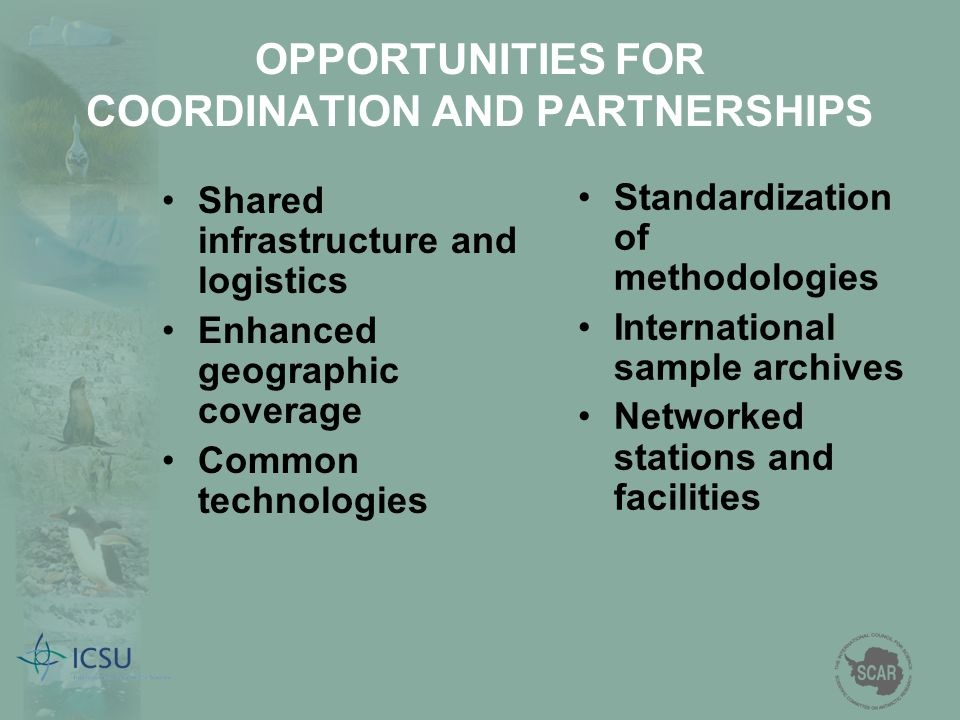OPPORTUNITIES FOR COORDINATION AND PARTNERSHIPS