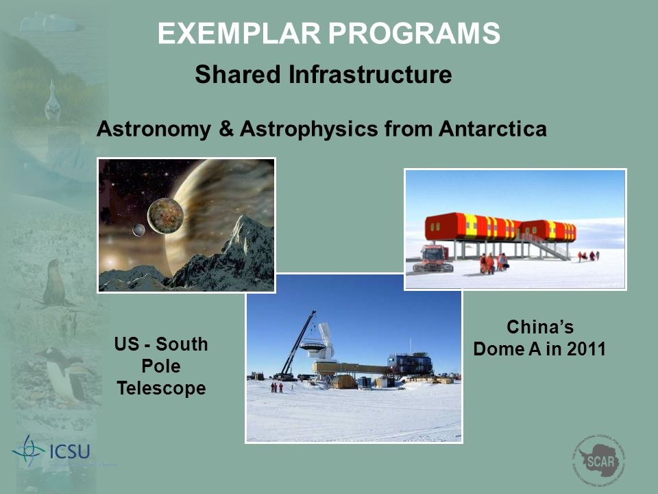 Shared Infrastructure Astronomy & Astrophysics from Antarctica