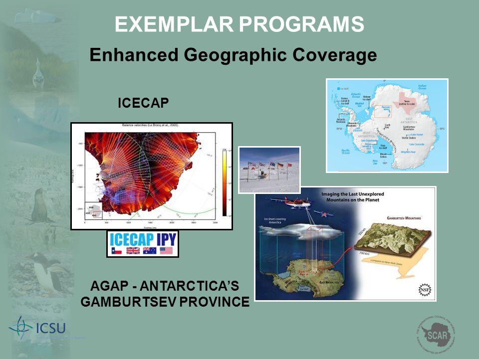 Enhanced Geographic Coverage AGAP - ANTARCTICA'S GAMBURTSEV PROVINCE