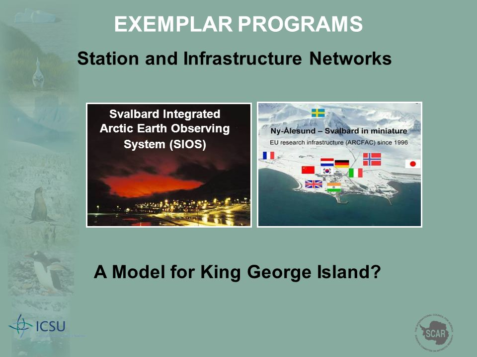 EXEMPLAR PROGRAMS Station and Infrastructure Networks