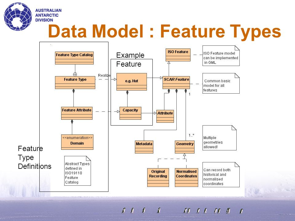Data Model : Feature Types