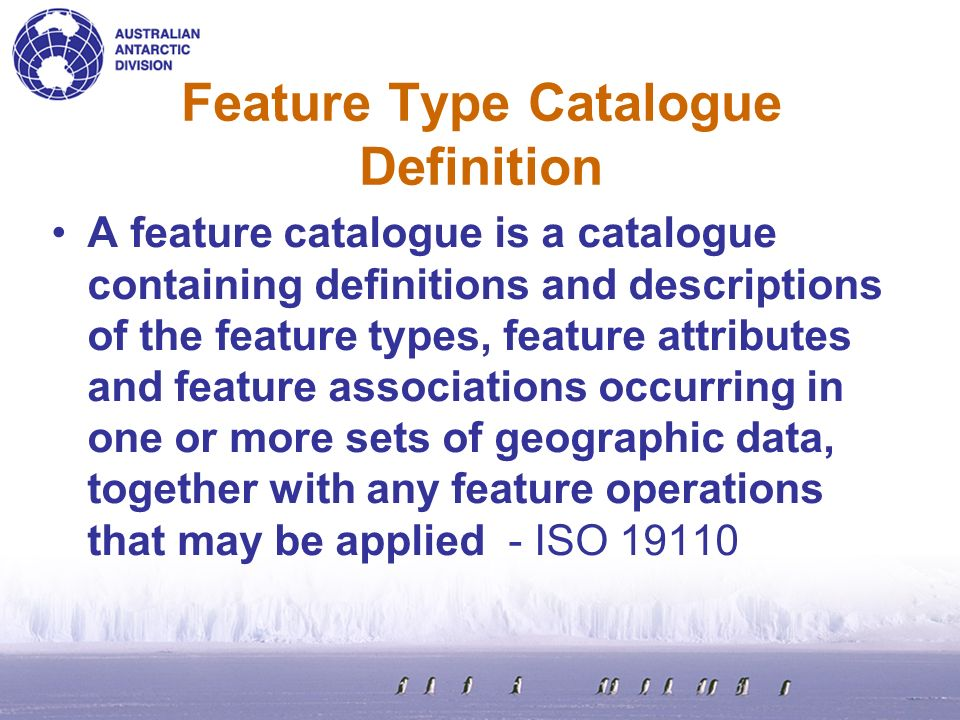 Feature Type Catalogue Definition