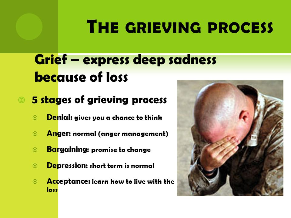 The grieving process