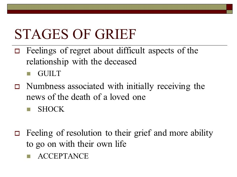 the sims relationship stages of grief