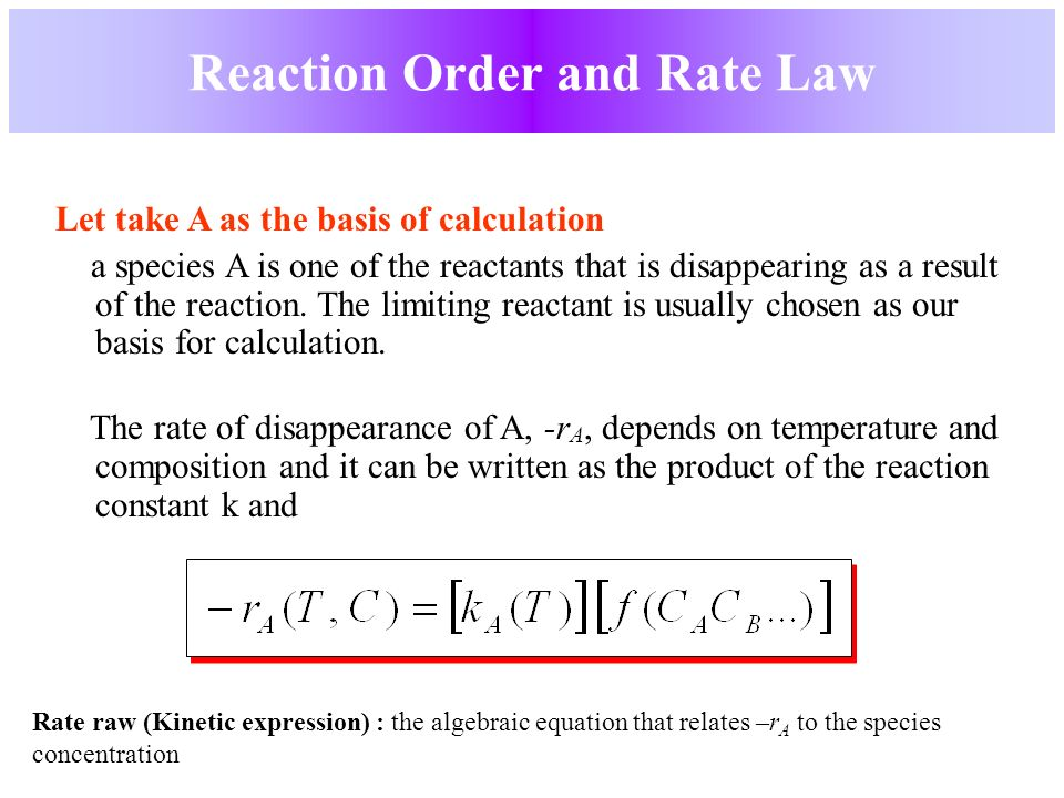 reaction order and rate laws Since the exponents n and m vary with each reaction, the rate laws for different reactions  use table 2 to determine the reaction order for na2s2o3.