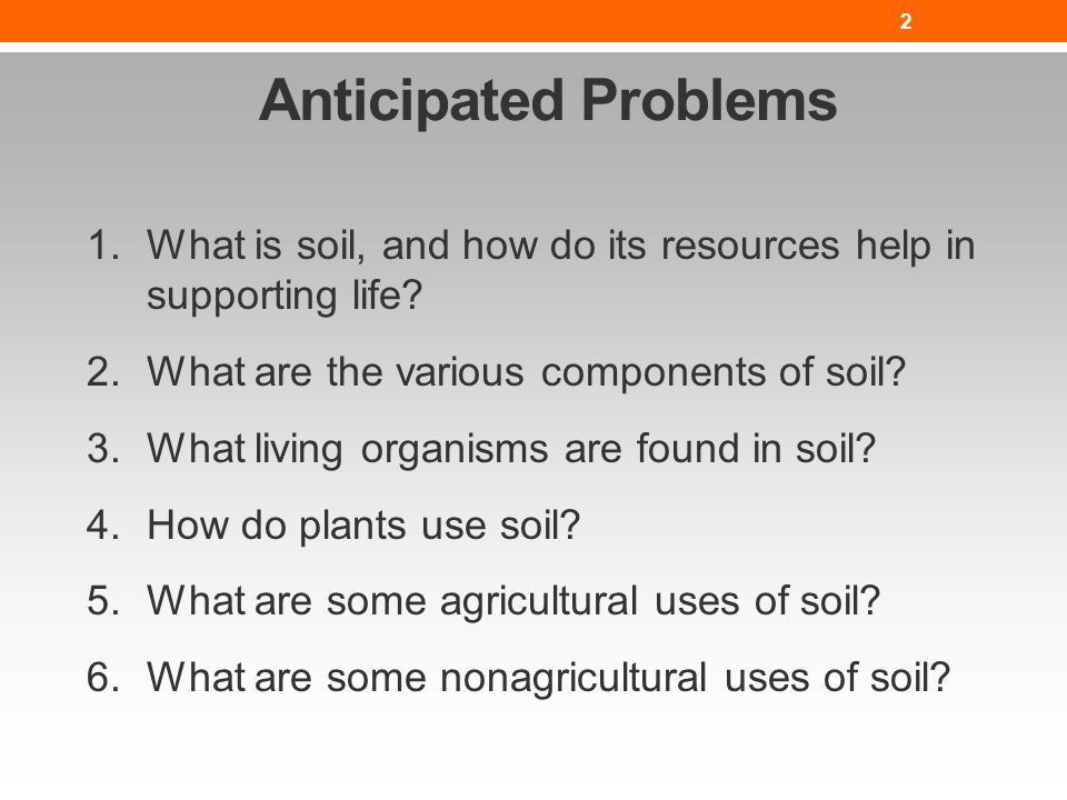 The nature of soil lesson nres b ppt video online download for What is soil resources