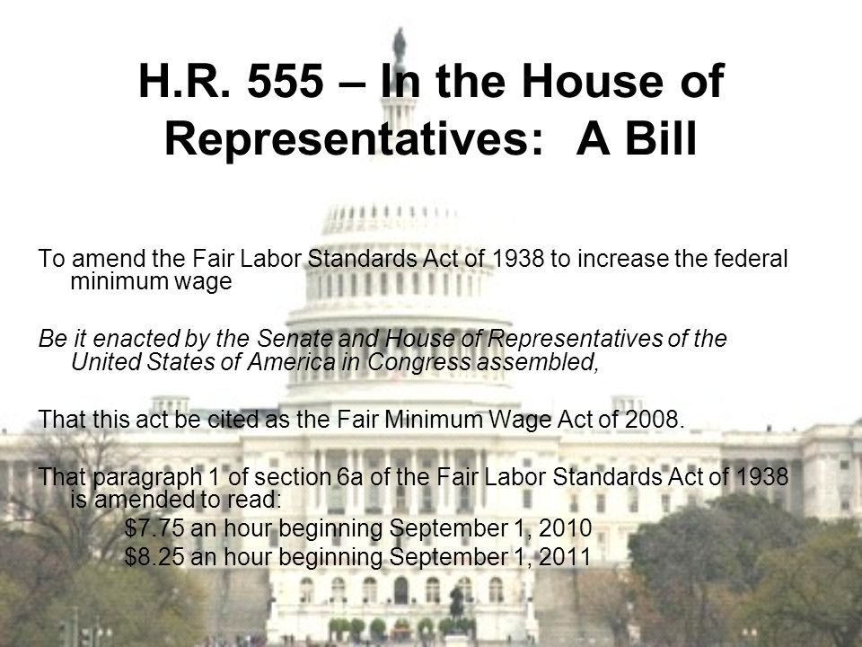 H.R. 555 – In the House of Representatives: A Bill
