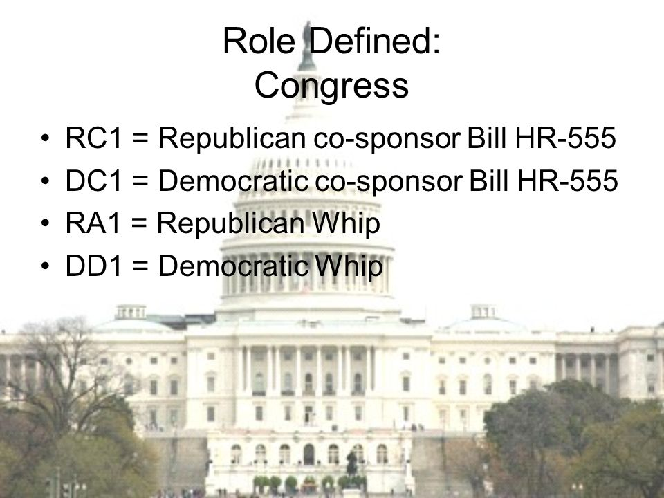 Role Defined: Congress