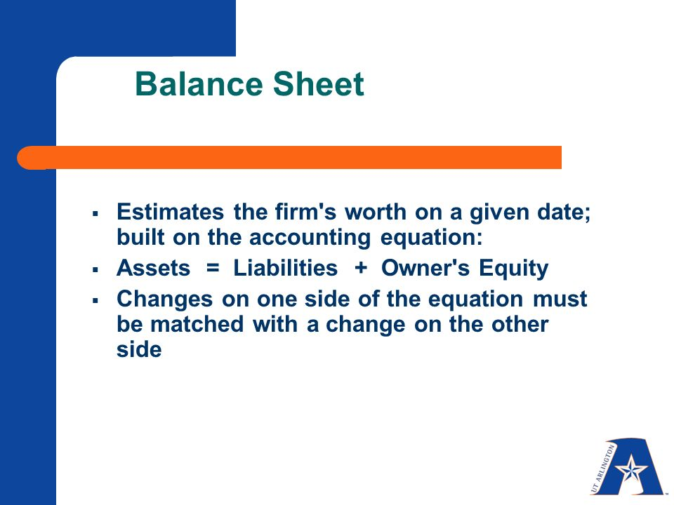 accounting balance sheet and owner s What is a balance sheet the balance sheet, also called the statement of financial position, is the third general purpose financial statement prepared during the accounting cycleit reports a company's assets, liabilities, and equity at a single moment in time.
