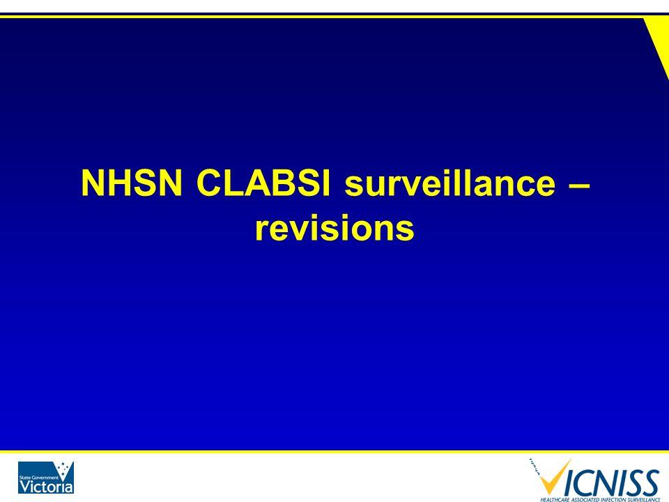 NHSN CLABSI surveillance – revisions