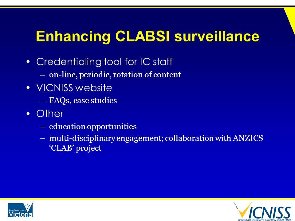 Enhancing CLABSI surveillance