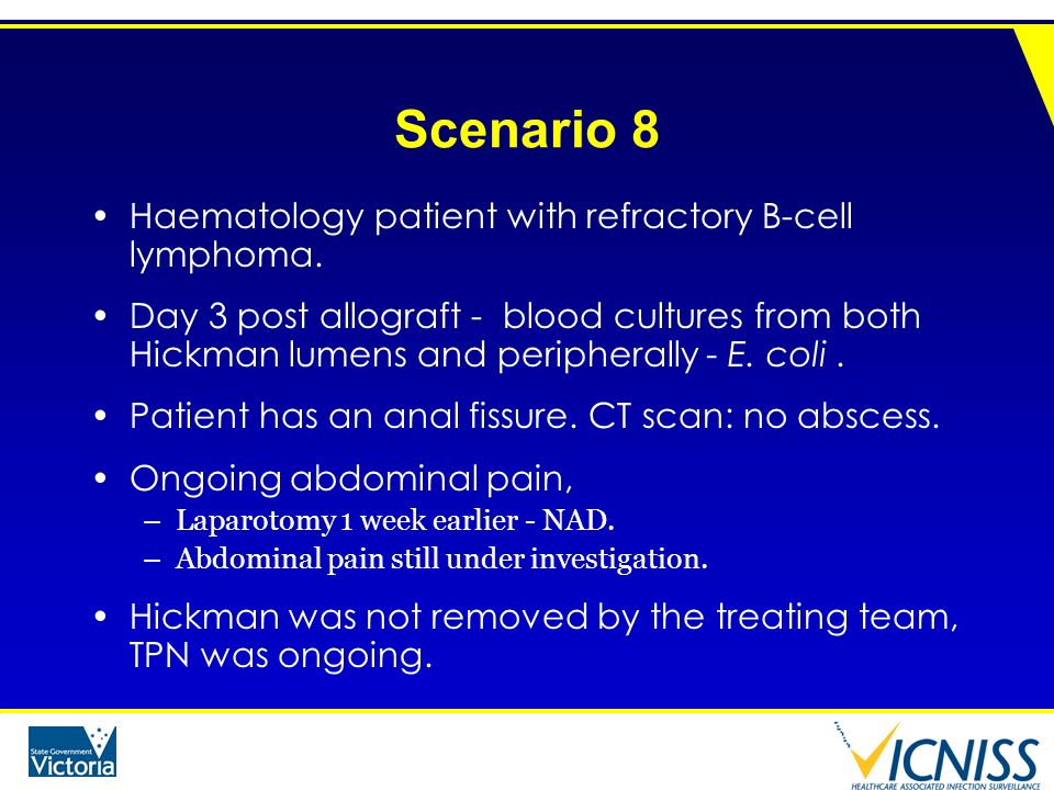 Scenario 8 Haematology patient with refractory B-cell lymphoma.