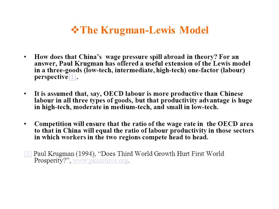The Krugman-Lewis Model