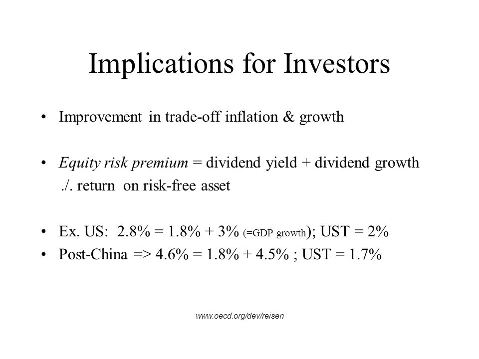 Implications for Investors