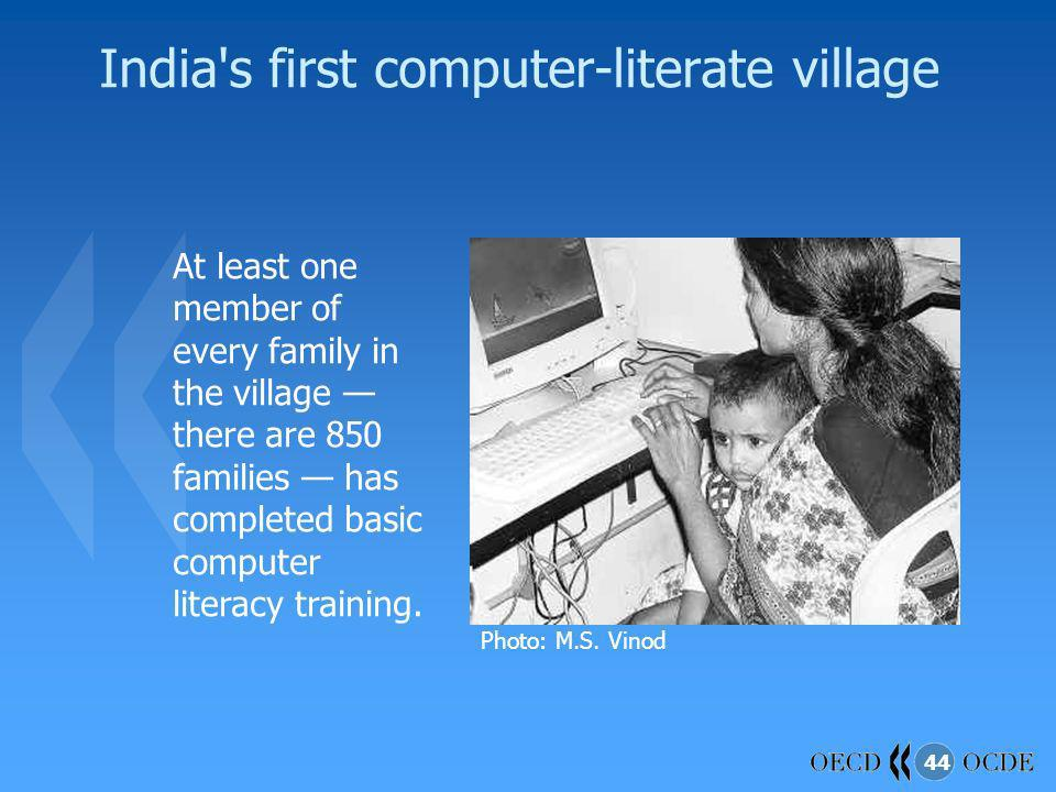 India s first computer-literate village