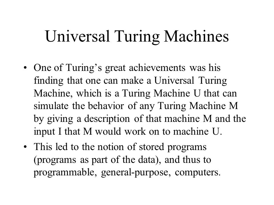 church-turing thesis turing machines Introduction device-dependent approaches and the abstract state machine device-independent approaches proving the church-turing thesis kerry ojakian1.