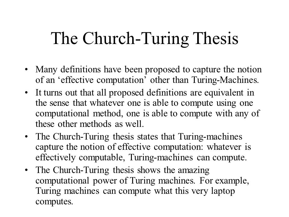 Church–Turing thesis