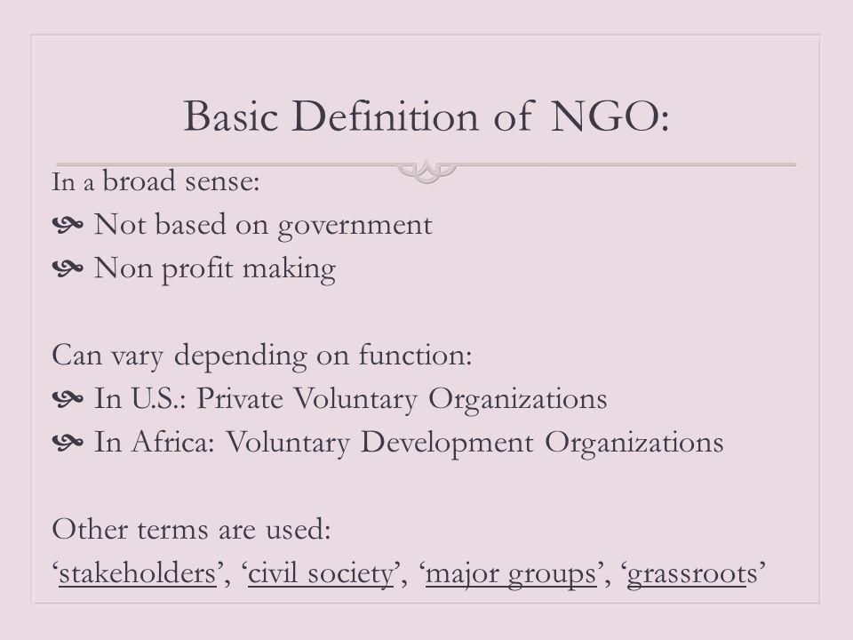 What is NGO? March 27, – 1st semester Young Leaders ...