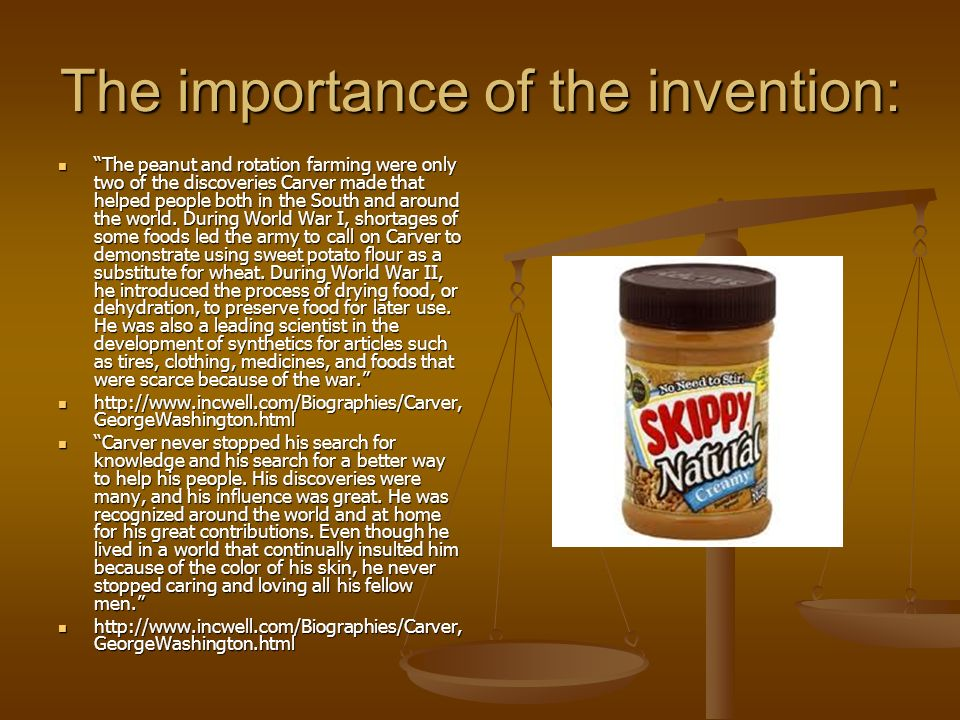 The importance of the invention: