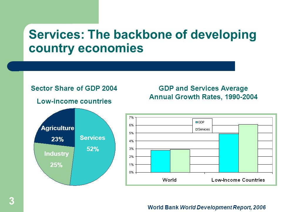 Services: The backbone of developing country economies