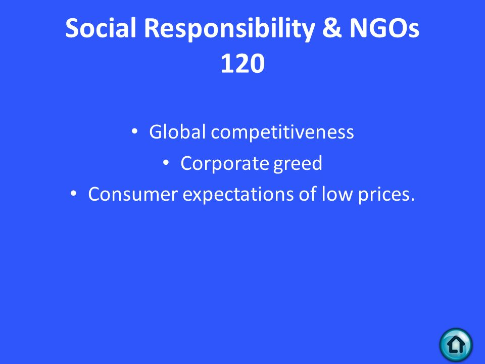 corporate social responsibility of ngos Along with social enterprises, microfinance institutions and donors, corporations play a large role in raising money and resources for ngos many international corporations can today rival entire nations when it comes to raising resources and influence in both india and international territories.