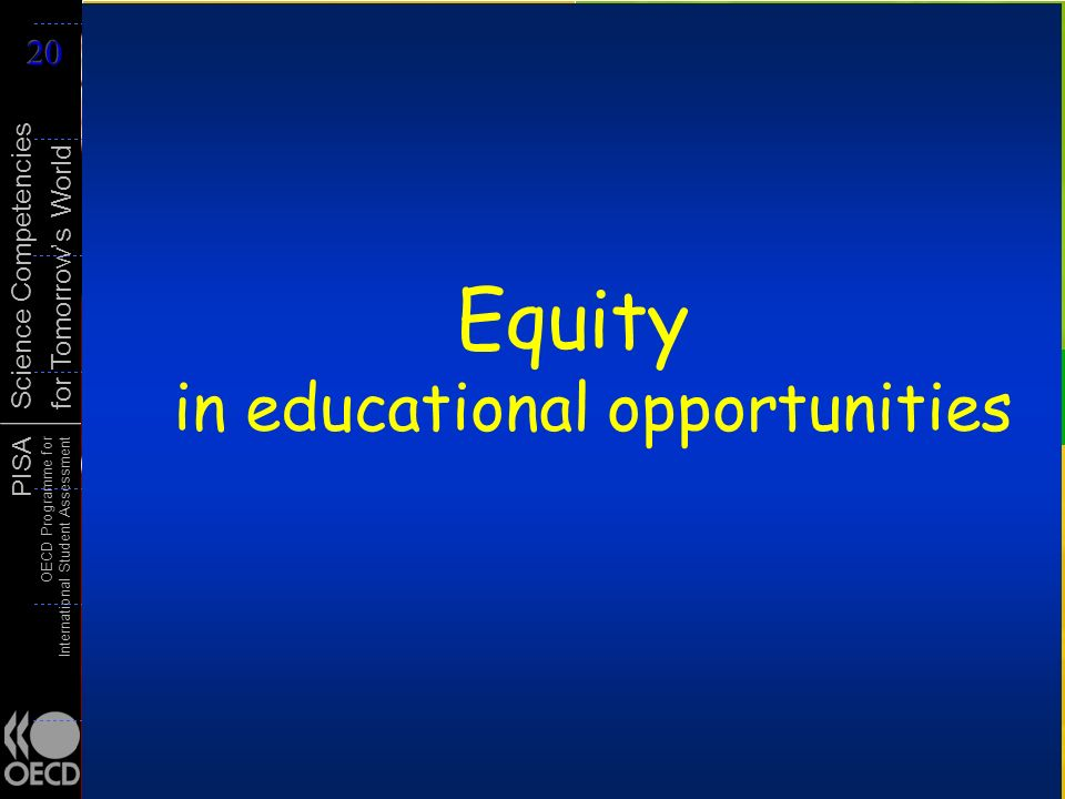 Equity in educational opportunities