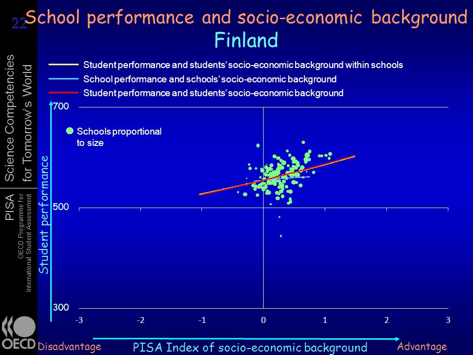 School performance and socio-economic background Finland