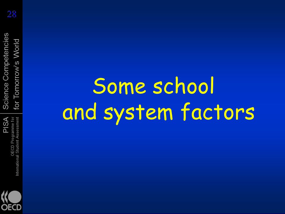 Some school and system factors