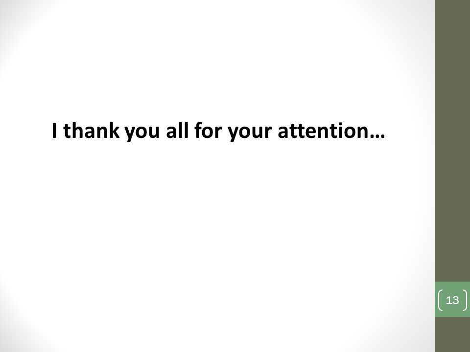 I thank you all for your attention…