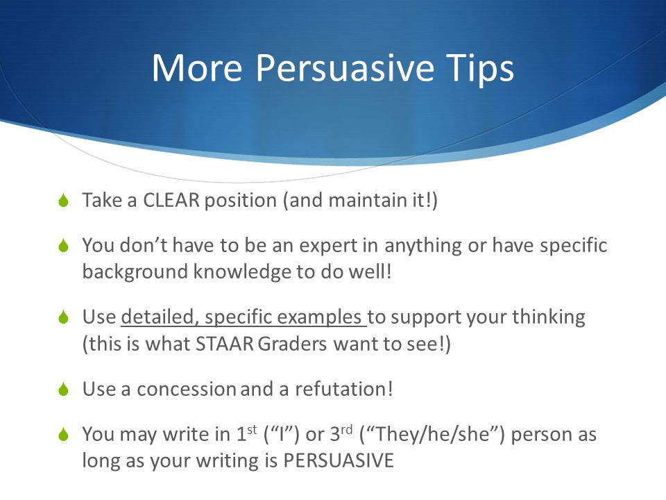 persuasive essay tips Looking for some tips for writing a personal narrative essay persuasive essays need to have logical and clear reasoning supported by facts and arguments comparison essay a comparison essay will compare two things and point out their similarities and differences.