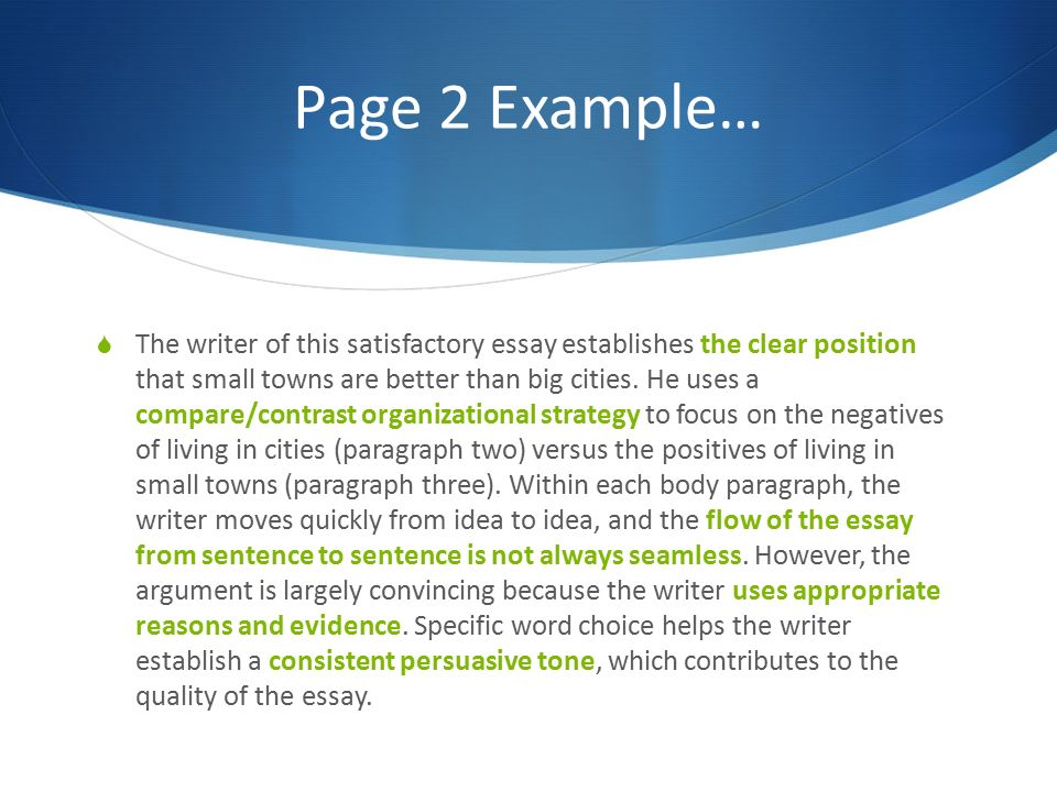 compare paragraphs essays