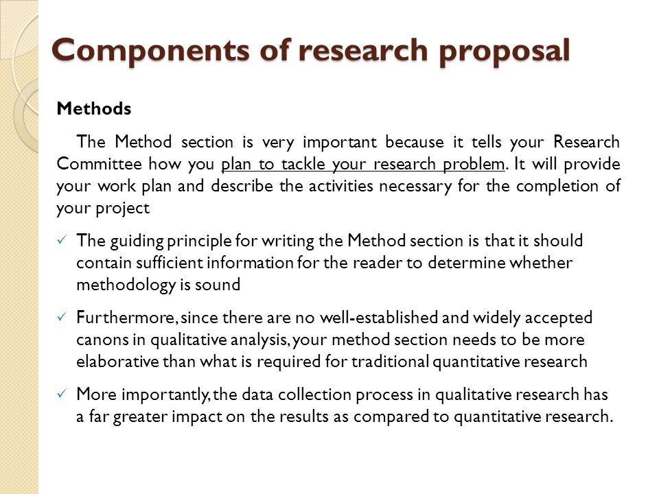 dissertation proposal methods section