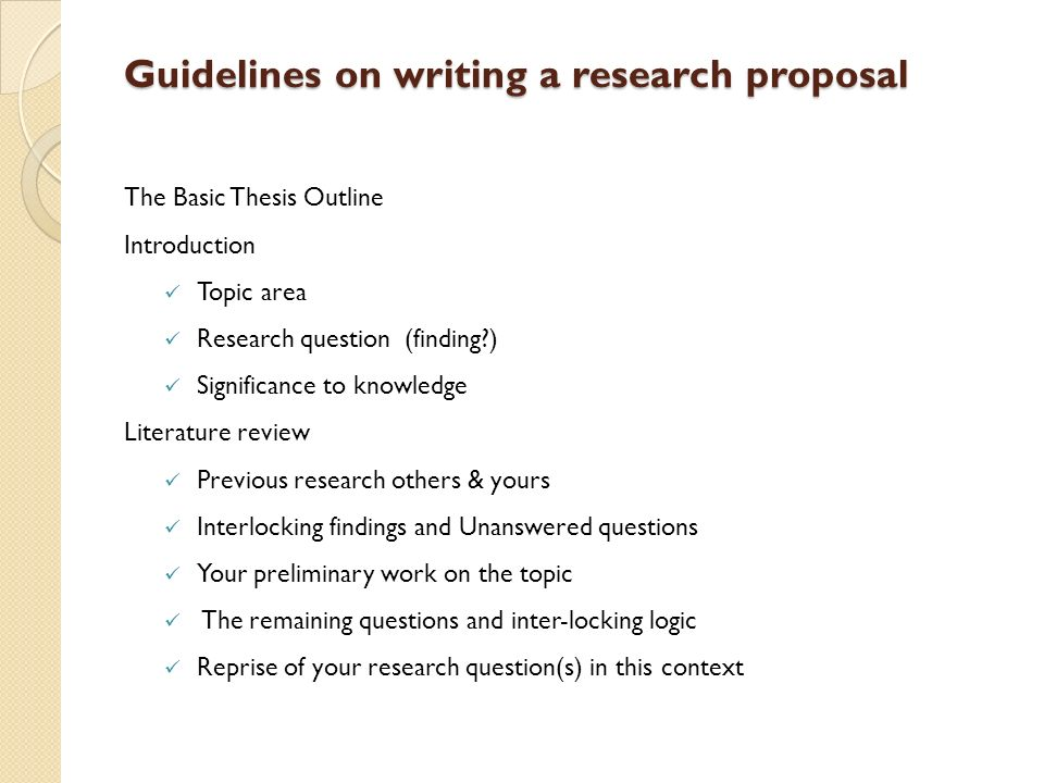 research proposal writing guidelines This page lists some of the stages involved in writing a library-based research paper although this list suggests that there is a simple, linear process to writing.