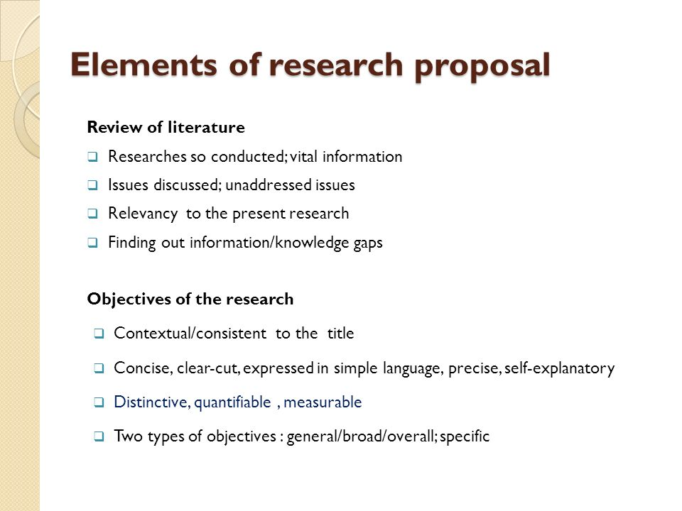 types of research proposals How to write a research proposal the exact format and requirements for a  research proposal can vary slightly depending on the type of research being.