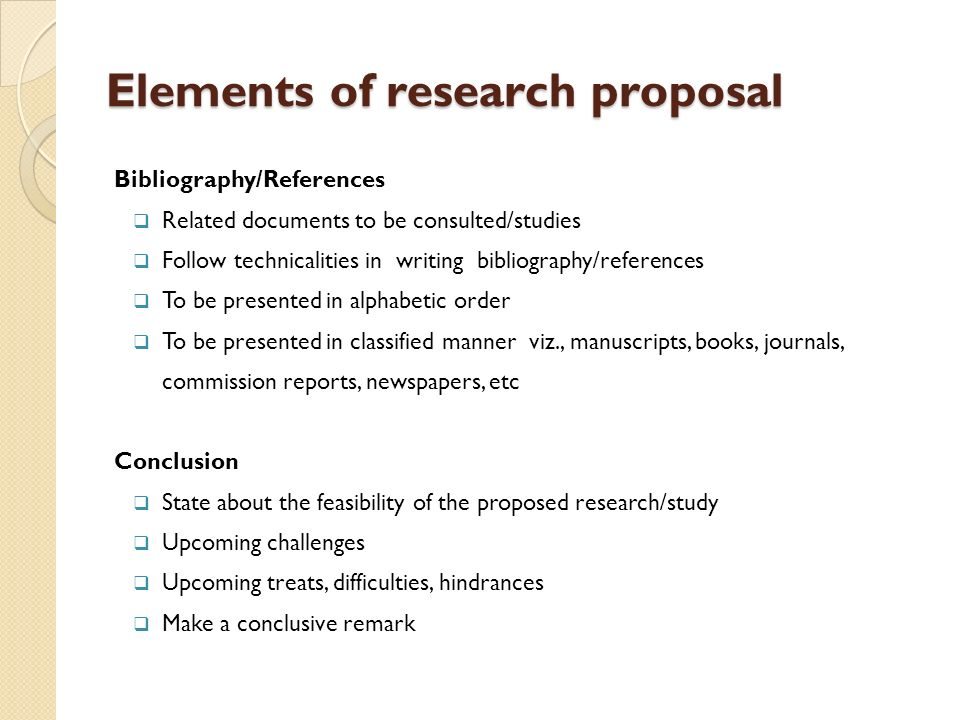 elements of research